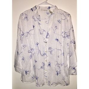 XL Tantrums Blouse, Embroidered